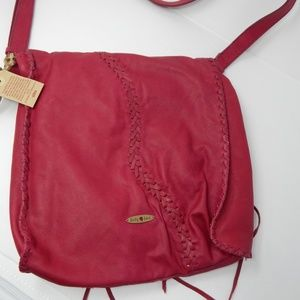 NWT Lucky brand pink Abby Road fringed bag